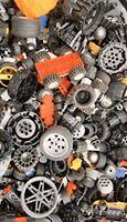 Genuine LEGO Bulk lot WHEELS 1/2 lb pound Tires Axles Car Vehicle Lots of Parts!