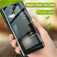 Transparent View Étui à Rabat pour IPHONE XS Max XR X 8 7 6S 6 Plus Mirror Cuir