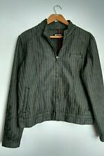 BURTON JEANS casual jacket size L embroidered herringbone --MINT CONDITION--