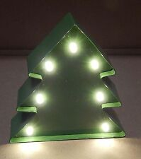 Christmas Light Up Tabletop Decor Holiday Marquee LED Xmas Tree Battery Run 95C