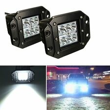 2x 4 inch Flush Mount Pods Reverse Cube LED Work Light Ford ATV Pickup Jeep