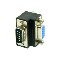 Down Right Angled 90 Degree VGA Male To Female Extension Adapters