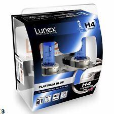 Lunex H4 Halógeno Platinum Blue Max Azul Bombillas De Los Faros Coche 4700K doble efecto