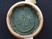 RARE Royal French Wax Seal Box Royalty Nobility Document King Louis XVI France