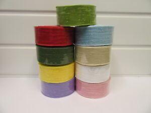 2 metres or 10 metre Roll 25mm 38mm Vintage Slub Ribbon Cotton UK Net Bouncle