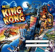 Data East Prototype Awesome Artwork KING KONG Pinball Machine Translite