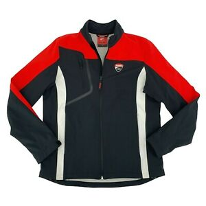 Ducati Spidi Corse Riding Jacket Men's Size L Fleece Lined Full Zip Softshell