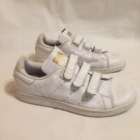 Adidas Stan Smith White Hook and Loop Mens 9.5 Sneakers Tennis Shoes
