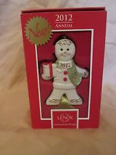"""New Lenox 2012 Annual """"Delicious Delivery"""" Christmas Ornament Porcelain 3.75"""""""