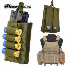 Tactical Molle Vest Accessory Magazine Pouch with 12 Gauge Airsoft Shotgun Shell