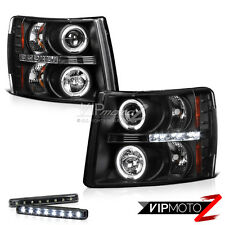 >> LED LIGHT BAR KIT<< 07-2013 Chevy Silverado Halo Projector Head Headlight