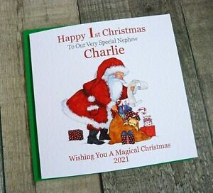 Handmade Personalised Christmas Card 1st 2nd 3rd 4th Daughter Grandchildren  TU