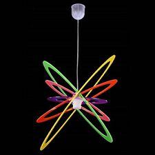 Lampadario a Sospensione in Plexiglass Vari Colori Moderno Camera Soggiorno E27