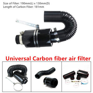 Universal Filter Carbon Fiber Machine Induction Ram Cold Air Intake System&Hose