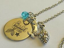 Mermaid necklace stainless steel it's a mermaid thing Charm necklace  535