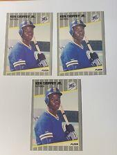 1989 Fleer Ken Griffey Jr 3 Rookie Cards