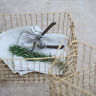 Vintage Industrial Style Wire Storage Basket Large Gold Hamper Rectangle Heavy