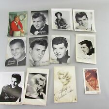 Lot of 12 Hollywood Stars signed pictures and postcards Set B early 1960s