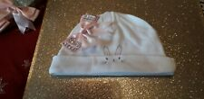 ROMANY BABY GIRL PINK CUTE BUNNY DIAMONTE BIG SATIN BOW  HAT 0 -3 MONTH