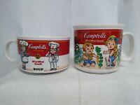 Lot 2 Vintage Campbell's Soup Mugs Kids Westwood 1993 1997. 12oz 8oz.