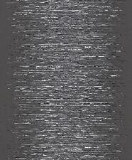 Vlies Tapete rasch Deco Style 413816 Streifen Struktur Glanz schwarz weiß silber