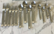 DISCONNECTED IKEA POEM STAINLESS FLATWARE (SATIN)  13 PC. LOT.