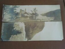 2 RARE RPPC SIZE PHOTO HIGHWAY ROAD SIDE POSTCARD STORE FRONT OTTER CREST OREGON
