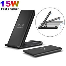 AU 15w Qi Wireless Charger Fast Charging Stand Dock Pad for iPhone 11 Pro XS X 8