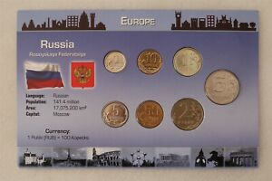 RUSSIA COIN SET WITH COA B38 #92