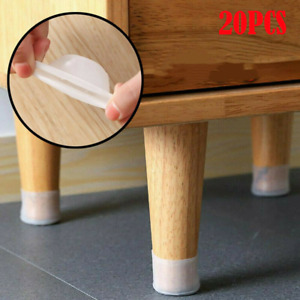 20PCS Round Silicone Chair Leg Caps Table Cover Feet Pads Floor Protectors Y