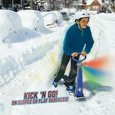 Original LED Ski Skooter: Fold-up Snowboard Kick-Scooter for Use on Snow-GET IT.