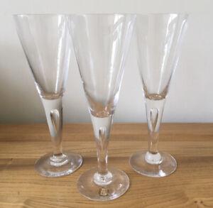 "Dartington FT115 Sharon Wine Glasses X3 Excellent Cond 19cm-7 5/8"" Tall"