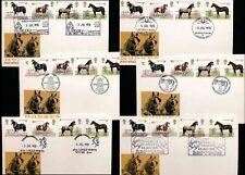 1978 HORSES FDCs LLANGOLLEN MUSIC + SHETLAND PONY + HYTHE + TRAINS etc..6 COVERS