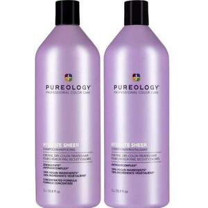 PUREOLOGY Hydrate Sheer Shampoo + Conditioner 1000ml Duo Australian Stockist