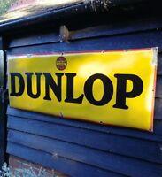 Dunlop enamel sign Dunlop Stock enamel sign Dunlop Tyres enamel sign Large
