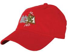18c4c7d25df81 AC DC Men s Split Logo Dad Hat Baseball Cap Adjustable Red