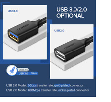 Ugreen USB Extension Cable USB 3.0 & 2.0 Smart TV Xbox PS4 Data Cord *UK STOCK*