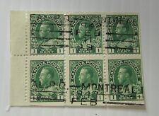 c1920 Canada SC #107c CV $300  KING GEORGE V   used  block Fine