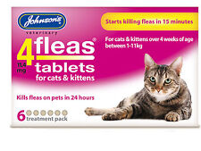 Johnsons 4Fleas Tablets For Cats & Kittens 6 Pack