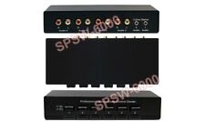 6-Way Audio Switch Splitter Mixer W/ 4 RCA L/R inputs + 2 Of 3.5mm Inputs