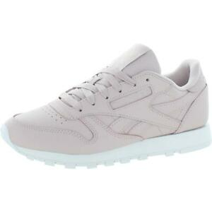 Reebok Womens Classic Leather Leather Workout Running Shoes Shoes BHFO 6387