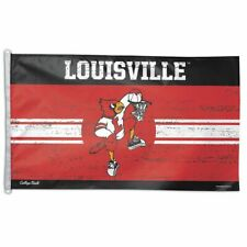 New listing Louisville Cardinals Basketball College Vault 3'X5' Deluxe Flag New Wincraft 👀