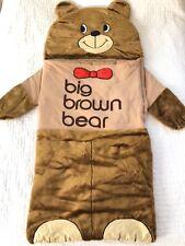 Vintage Bloomingdales Big Brown Bear Nap Mat / Sleeping Bag, Cuddlebunch, Euc