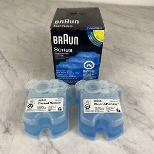 Braun Clean & Renew System Cartridges Refills 2 Pack Lemon Fresh