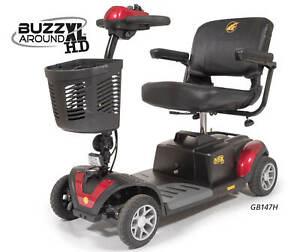 Golden Buzzaround XL-HD 4 Wheel Heavy Duty Portable Electric Scooter GB147H NEW!