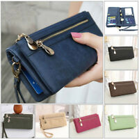 Women Lady Clutch Leather Wallet Long Card Holder Phone Bag Case Purse Handbag Y