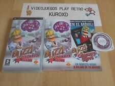 PLAY STATION PORTABLE PSP BUZZ CEREBROS EN ACCION COMPLETO PAL ESPAÑA