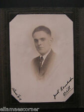 Vintage 1924 School Picture of a Young Man  Schindler Sunbury PA in Folder