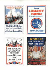 1919 Are You 100% American Mother Son 4 Mini Poster WW1 Liberty Loans War Bonds