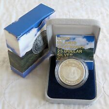 1988 COOK ISLANDS CENTENARY $25 SILVER PROOF - boxed/coa/outer
